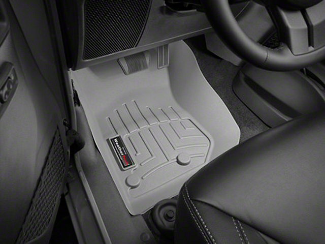 Weathertech DigitalFit Front Floor Liners; Gray (14-18 Jeep Wrangler JK)