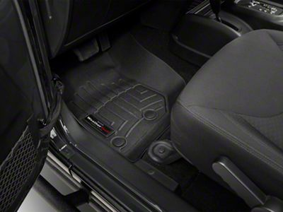 Add Weathertech DigitalFit Front and Rear Floorliners - Black (14-17 Wrangler JK 4 Door)