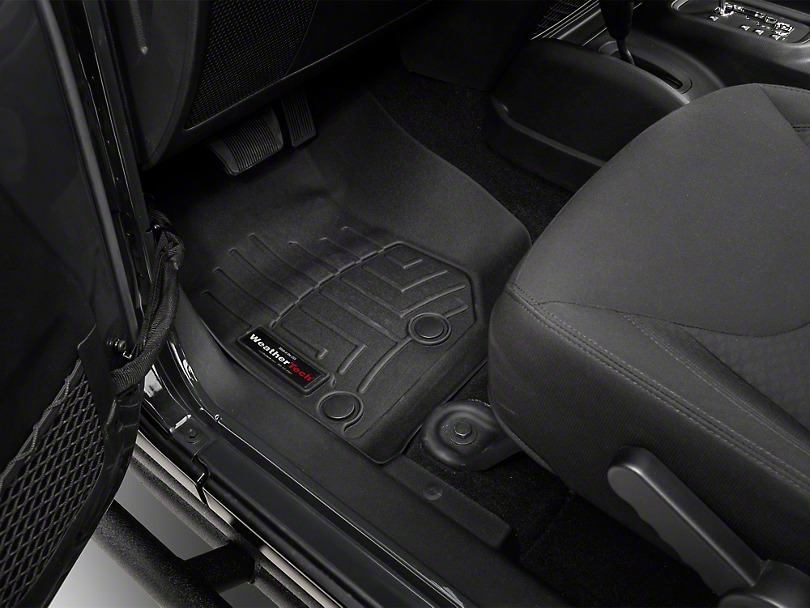 Weathertech DigitalFit Front & Rear Floor Liners - Black (14-18 Jeep Wrangler JK 4 Door)