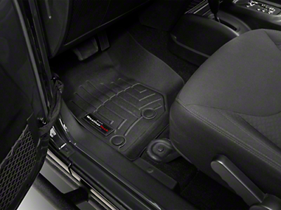 Weathertech DigitalFit Front & Rear Floor Mats - Black (14-18 Jeep Wrangler JK 4 Door)