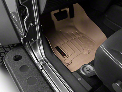 Weathertech DigitalFit Front & Rear Floor Liners - Tan (14-18 Jeep Wrangler JK 4 Door)