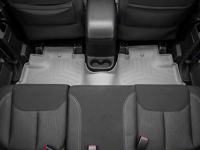 Weathertech DigitalFit Front & Rear Floor Liners - Gray (14-18 Jeep Wrangler JK 4 Door)