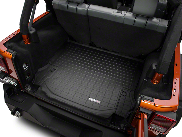 Weathertech Cargo Liner; Black (11-14 Jeep Wrangler JK 4 Door)