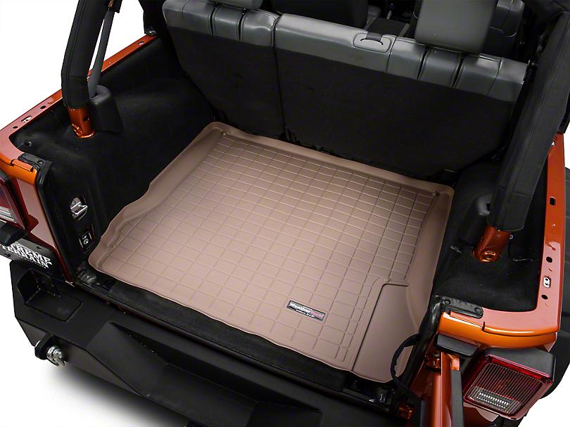 Weathertech DigitalFit Cargo Liner - Tan (07-10 Jeep Wrangler JK 4 Door)