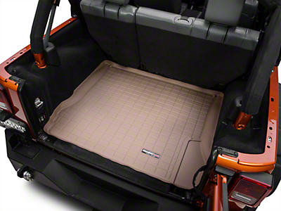 Weathertech DigitalFit Cargo Liner - Tan (07-10 Jeep Wrangler JK 4 Door)