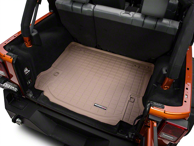Weathertech DigitalFit Cargo Liner - Tan (11-14 Jeep Wrangler JK 4 Door)