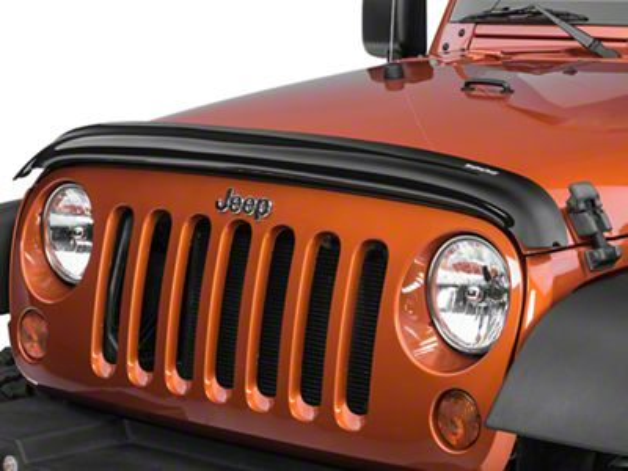 Weathertech Stone & Bug Deflector - Dark Smoke (07-18 Jeep Wrangler JK)