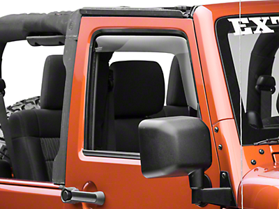 Weathertech Front Side Window Deflectors - Dark Smoke (07-18 Jeep Wrangler JK 2 Door)