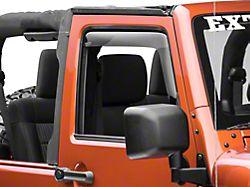 Weathertech Window Deflectors; Front; Dark Smoke (07-18 Jeep Wrangler JK 2 Door)
