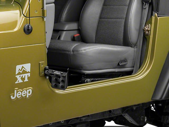 M.O.R.E. Exterior Door Pedal; Passengers Side (97-06 Jeep Wrangler TJ)