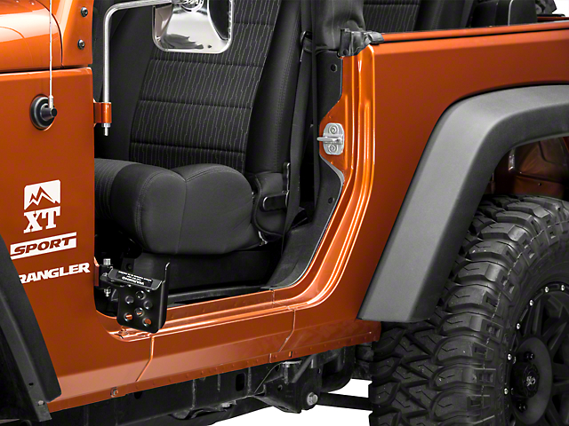 M.O.R.E. Exterior Door Pedal; Passengers Side (07-18 Jeep Wrangler JK)