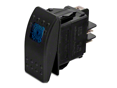 Daystar Rocker Switch - Blue Light (87-18 Jeep Wrangler YJ, TJ, JK & JL)