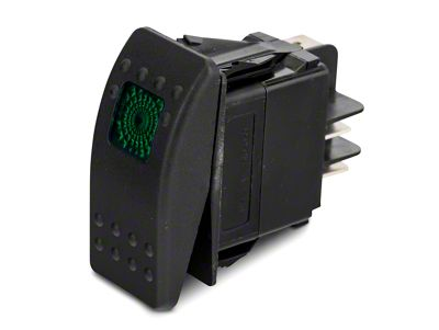 Daystar Rocker Switch - Green Light (87-19 Jeep Wrangler YJ, TJ, JK & JL)