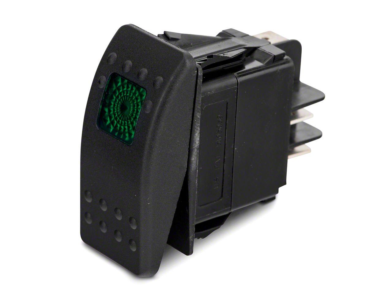 Add Daystar Rocker Switch - Green Light (87-17 Wrangler YJ, TJ, & JK)