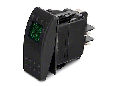 Daystar Rocker Switch - Green Light (87-18 Jeep Wrangler YJ, TJ, JK & JL)