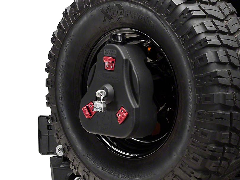 Daystar Cam Can Complete Kit - Black - Non-Flammable Liquids (97-18 Jeep Wrangler TJ & JK)