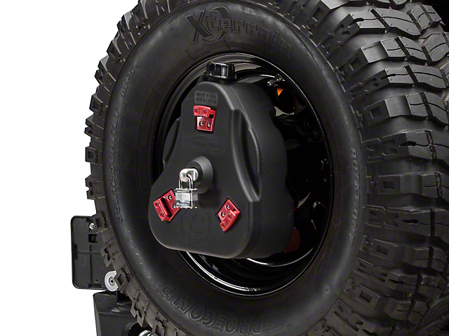 Daystar Cam Can Complete Kit; Black; Non-Flammable Liquids (97-18 Jeep Wrangler TJ & JK)