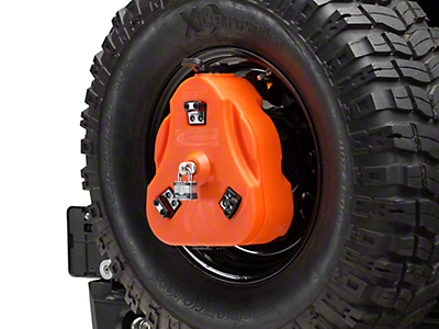 Daystar Cam Can Trail Box w/ Spare Tire Mount - Orange (97-18 Wrangler TJ & JK)