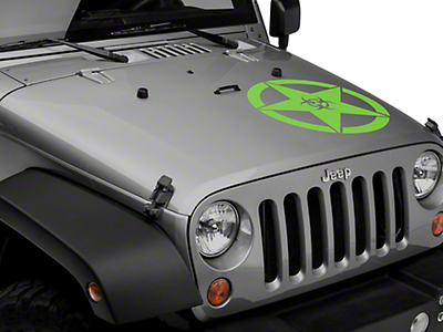 XT Graphics Bio Hazard Star Decal Set - Green (87-18 Jeep Wrangler YJ, TJ, JK & JL)