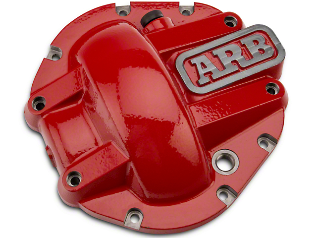 ARB Dana 44 Differential Cover; Red (87-18 Jeep Wrangler YJ, TJ & JK)