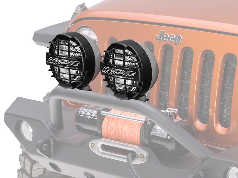 ARB 8 in. IPF 900XS Extreme Round Halogen Lights - Driving Beam - Pair (87-19 Jeep Wrangler YJ, TJ, JK & JL)
