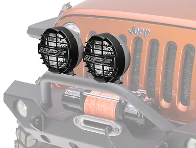 ARB 8 in. IPF 900XS Extreme Round Halogen Lights - Driving Beam - Pair (87-17 Wrangler YJ, TJ & JK)