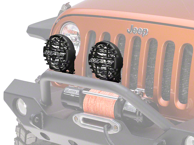 ARB 6.5 in. IPF 968 Series Round Halogen Lights - Driving/Spot Combo - Pair (87-17 Wrangler YJ, TJ & JK)