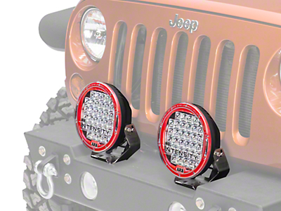 ARB Intensity 9.5 in. Round 32 LED Light - Spot Beam (87-17 Wrangler YJ, TJ & JK)