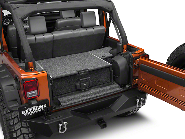ARB Roller Drawer with Roller Floor System (07-18 Jeep Wrangler JK 4 Door w/ Plastic Trim & Sub Woofer)