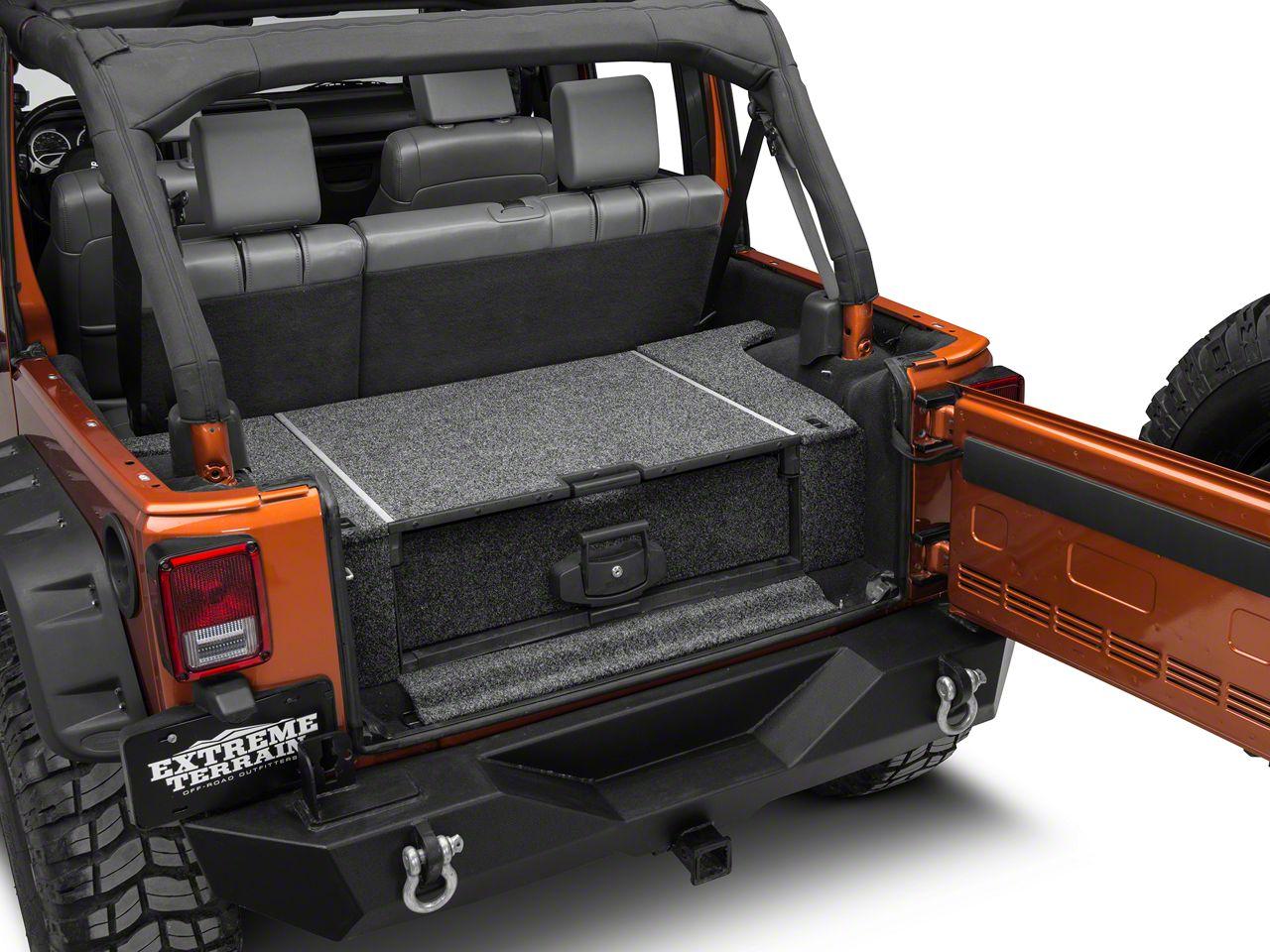 Metal Trunk Organizer Right Side Rear Cargo Rack Shelf Cargo Storage Box for 2007-2018 Jeep Wrangler JK /& Unlimited 4-Door