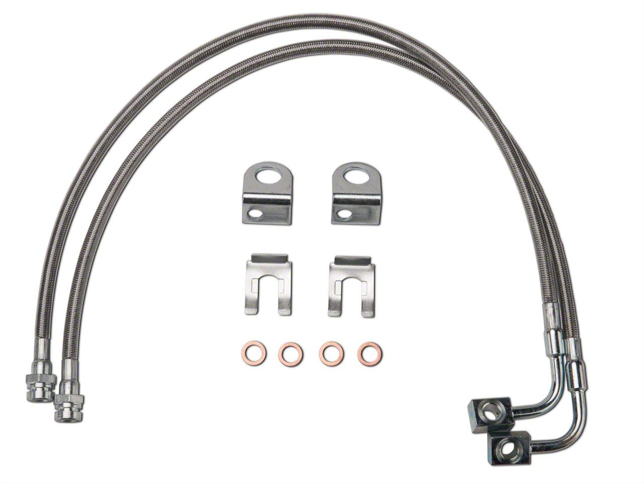 Synergy Extended Front/Rear DOT Approved Brake Line Kit (07-18 Jeep Wrangler JK)