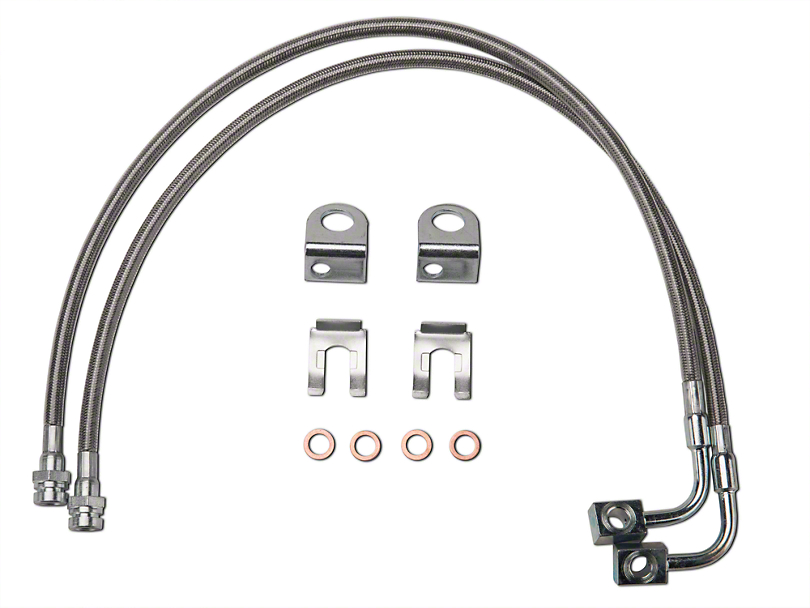 Synergy Extended Front/Rear DOT Approved Brake Line Kit (07-18 Jeep Wrangler JK)