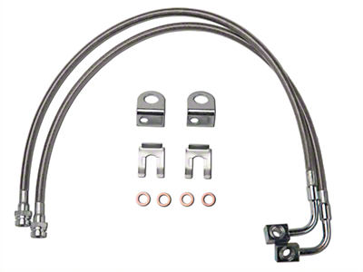 Synergy Extended Front/Rear DOT Approved Brake Line Kit (07-17 Wrangler JK)