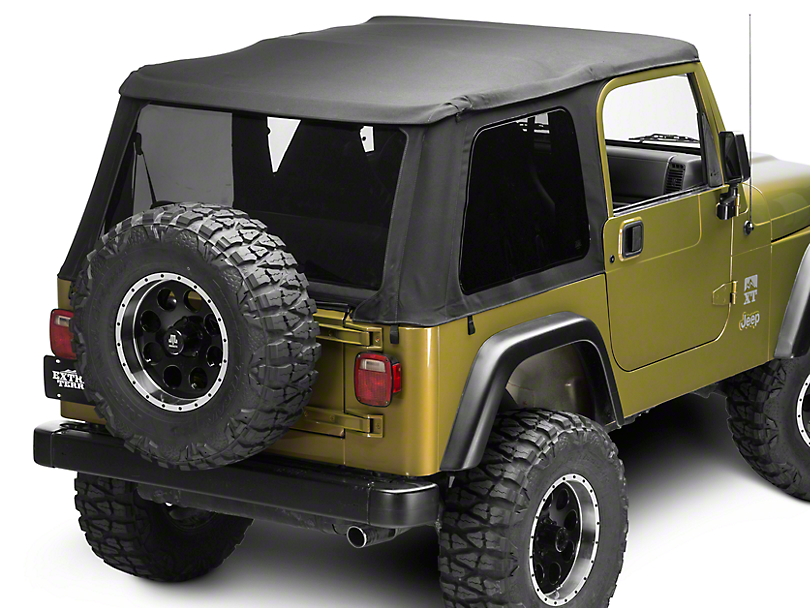 Bestop Trektop NX Soft Top - Black Twill (97-06 Jeep Wrangler TJ, Excluding Unlimited)