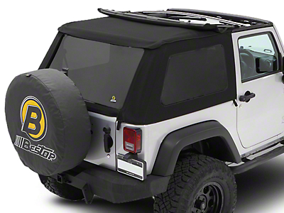Bestop Trektop NX Soft Top - Black Twill (07-18 Jeep Wrangler JK 2 Door)