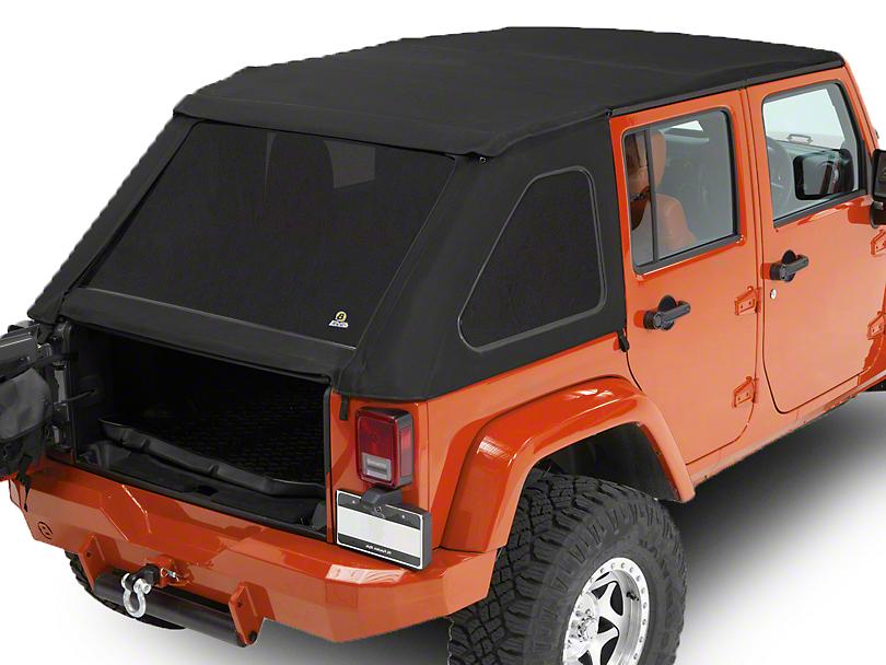 Bestop Trektop NX Soft Top - Matte Black Twill (07-18 Jeep Wrangler JK 4 Door)