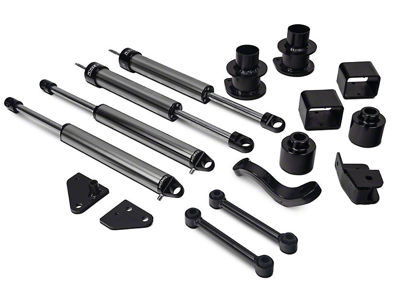 Fabtech 3-Inch Basic Suspension Lift Kit with Dirt Logic Shocks (07-18 Jeep Wrangler JK)