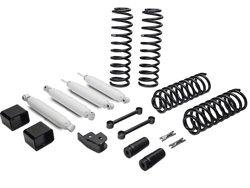 Fabtech 3 in. Budget Lift System w/ Shocks (07-18 Jeep Wrangler JK 4 Door)