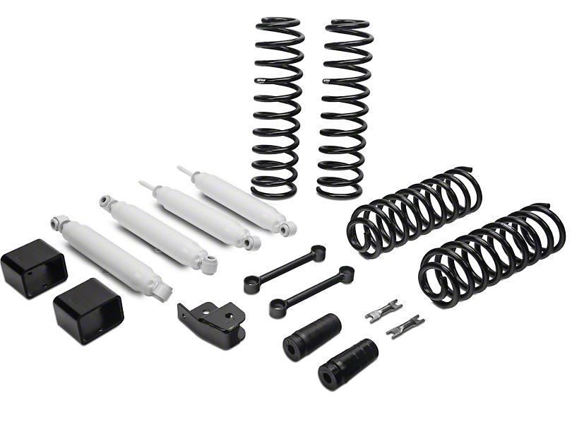 Fabtech 3 in. Budget Lift Kit w/ Shocks (07-18 Wrangler JK  sc 1 st  ExtremeTerrain & Fabtech Wrangler 3 in. Budget Lift Kit w/ Shocks K4048 (07-17 ...