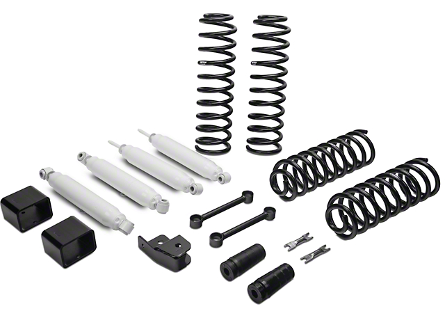 Fabtech 3 Inch Budget Lift System w/ Shocks (07-18 Jeep Wrangler JK 4 Door)