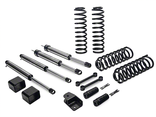 Fabtech 3 in. Budget Lift System w/ Dirt Logic Shocks (07-18 Jeep Wrangler JK 4 Door)