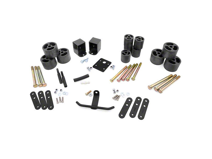Rough Country Jeep Wrangler 2 in. Body Lift Kit w/o Shocks