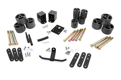 Rough Country 2 in. Body Lift Kit w/o Shocks (87-95 Wrangler YJ)