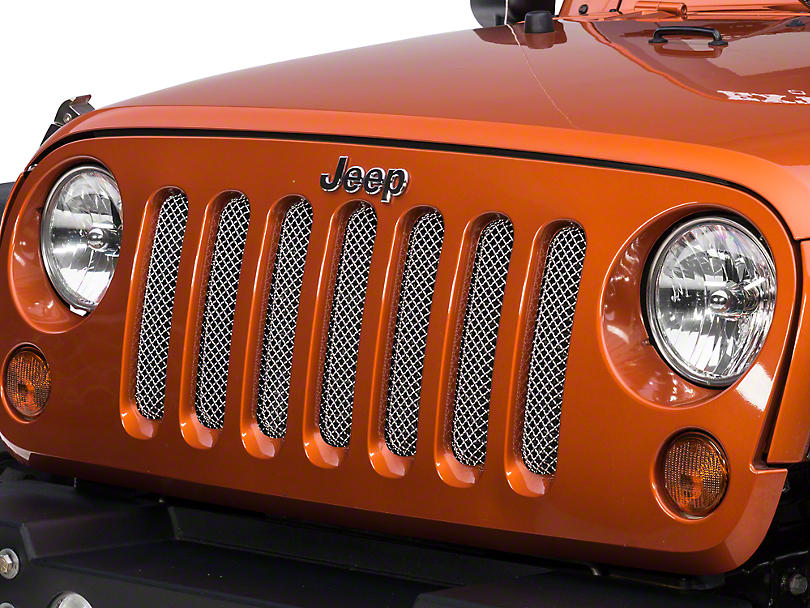 RedRock 4x4 Wire Mesh Grille - Stainless (07-18 Jeep Wrangler JK)