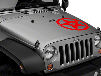 XT Graphics Bio Hazard Star Decal - Red (87-18 Wrangler YJ, TJ & JK)