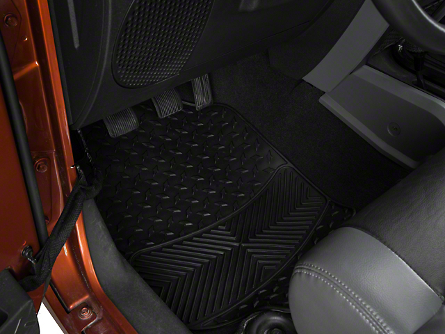 TruShield All Weather Floor Mat Set w/One-Piece Rear Mat - Black (87-19 Jeep Wrangler YJ, TJ, JK & JL)