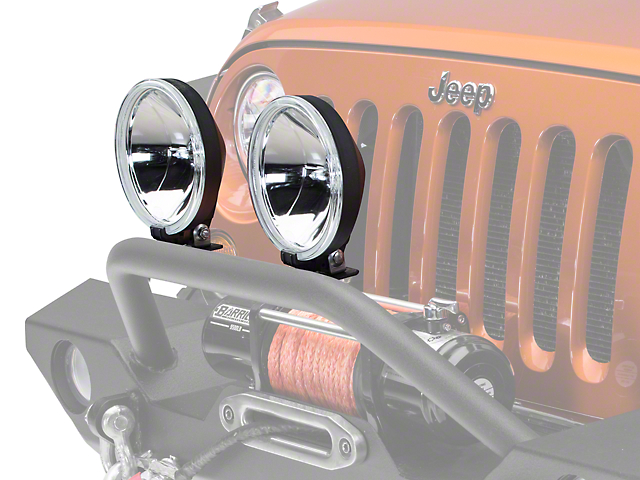 hella jeep wrangler 700ff round halogen driving lamps - pair 10032801 -  free shipping