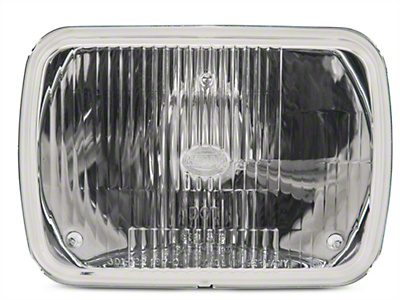 Hella 5x7 in. Rectangular E-Code H4 Conversion Headlamp (87-95 Wrangler YJ)
