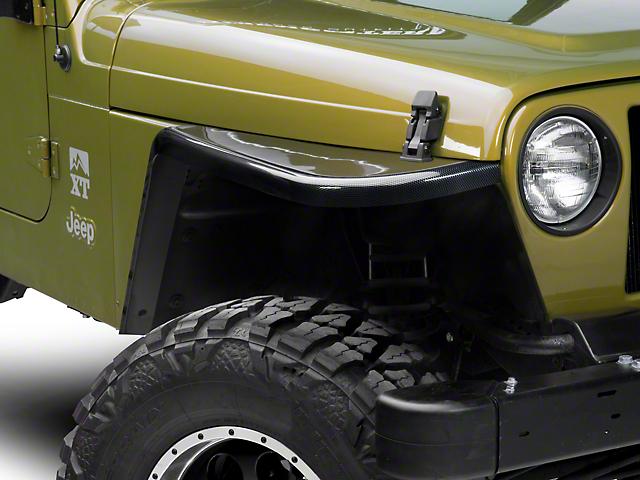 MCE Gen-III Carbon Fiber Style Flexible Flat Fenders - 3 in. (97-06 Jeep Wrangler TJ)