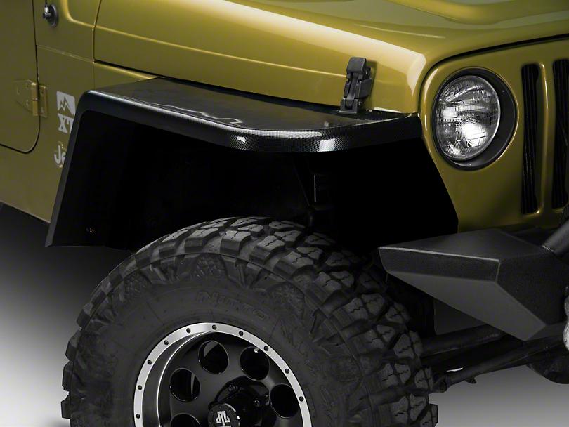 MCE Gen-III Carbon Fiber Style Flexible Flat Fenders - 6 in. (97-06 Jeep Wrangler TJ)
